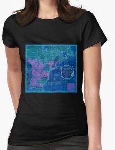 American Revolutionary War Era Maps 1750-1786 353 Bowles's new pocket map of the United States of America the British possessions of Canada Nova Scotia and Inverted Womens Fitted T-Shirt