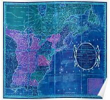 American Revolutionary War Era Maps 1750-1786 353 Bowles's new pocket map of the United States of America the British possessions of Canada Nova Scotia and Inverted Poster