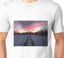 UMD Snowy Sunset Unisex T-Shirt