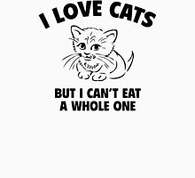 I Love Cats Funny Woman Tshirt Womens Fitted T-Shirt