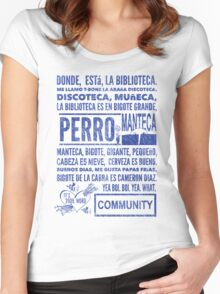La Biblioteca Rap - Community Women's Fitted Scoop T-Shirt