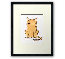 Weird Kitty Framed Print