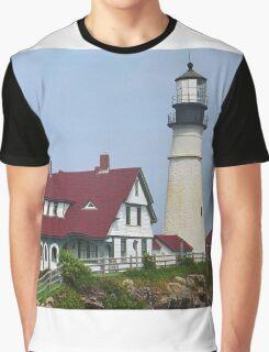 Lighthouse - Portland Head, Maine Graphic T-Shirt