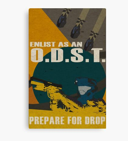 Enlist As An O.D.S.T Yellow Canvas Print