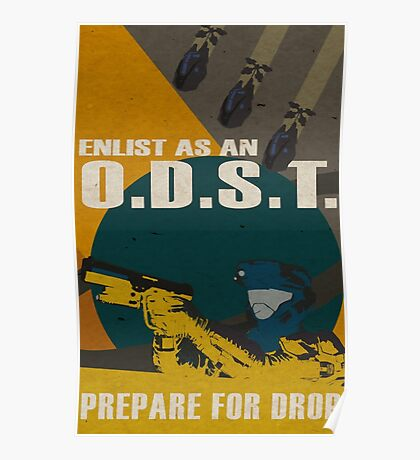 Enlist As An O.D.S.T Yellow Poster