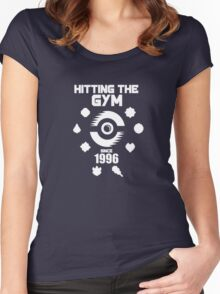 Hitting The Pokemon Gym Women's Fitted Scoop T-Shirt