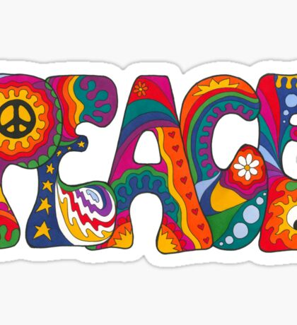 Psychedelic Peace Sticker