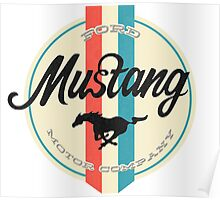 Mustang retro Poster