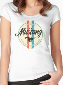 Mustang retro Women's Fitted Scoop T-Shirt