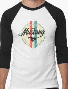 Mustang retro Men's Baseball ¾ T-Shirt