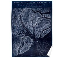 American Revolutionary War Era Maps 1750-1786 835 Port Royal in South Carolina  taken from surveys deposited at the Plantation Office Inverted Poster