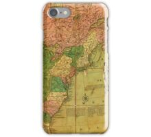 American Revolutionary War Era Maps 1750-1786 351 Bowles's new pocket map of the United States of America the British possessions of Canada Nova Scotia and iPhone Case/Skin