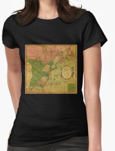 American Revolutionary War Era Maps 1750-1786 351 Bowles's new pocket map of the United States of America the British possessions of Canada Nova Scotia and Womens Fitted T-Shirt
