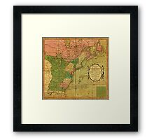 American Revolutionary War Era Maps 1750-1786 351 Bowles's new pocket map of the United States of America the British possessions of Canada Nova Scotia and Framed Print