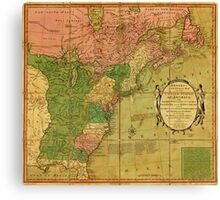American Revolutionary War Era Maps 1750-1786 351 Bowles's new pocket map of the United States of America the British possessions of Canada Nova Scotia and Canvas Print