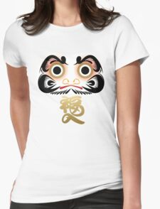 Luck & Good Fortune Daruma Womens Fitted T-Shirt