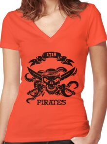 Killer Pirate Funny Men's Tshirt Women's Fitted V-Neck T-Shirt