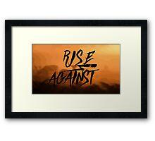 RISE AGAINST ▽ Framed Print
