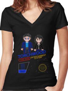 NINTENDO: NES Torchwood  Women's Fitted V-Neck T-Shirt