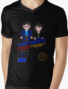 NINTENDO: NES Torchwood  Mens V-Neck T-Shirt