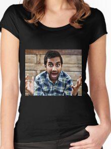 aziz ansari  Women's Fitted Scoop T-Shirt