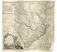 American Revolutionary War Era Maps 1750-1786 110 A map of the province of South Carolina with all the rivers creeks bays inletts islands inland navigation Poster