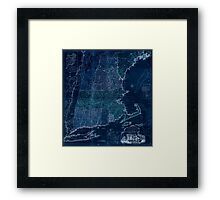 American Revolutionary War Era Maps 1750-1786 103 A map of the most inhabited part of New England containing the provinces of Massachusets Bay and New Inverted Framed Print