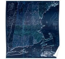 American Revolutionary War Era Maps 1750-1786 103 A map of the most inhabited part of New England containing the provinces of Massachusets Bay and New Inverted Poster
