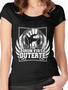 DUTERTE THE IRON FIST Women's Fitted Scoop T-Shirt