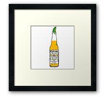 Corona and lime Framed Print