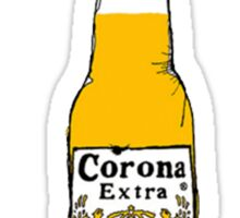 Corona and lime Sticker