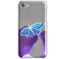 Blue and white Monarch butterfly iPhone Case/Skin