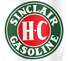 Sinclair Dino Gasoline Lubricant Vintage Poster