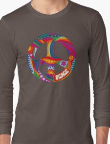 Psychedelic Peace Symbol Long Sleeve T-Shirt