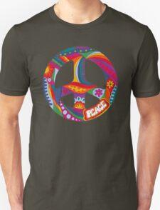 Psychedelic Peace Symbol Unisex T-Shirt