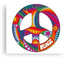 Psychedelic Peace Symbol Canvas Print