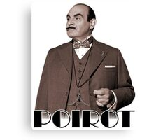 Monsieur Hercule Poirot Canvas Print