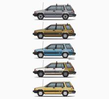 Stack Of Mark's Toyota Tercel Al25 Wagons Baby Tee