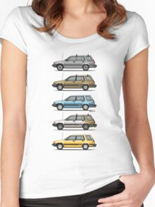 Stack Of Mark's Toyota Tercel Al25 Wagons Women's Fitted Scoop T-Shirt