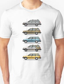 Stack Of Mark's Toyota Tercel Al25 Wagons T-Shirt