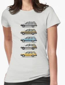 Stack Of Mark's Toyota Tercel Al25 Wagons Womens Fitted T-Shirt