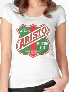 ARISTO MOTOR OIL GASOLINE LUBRICANT VINTAGE RACING Women's Fitted Scoop T-Shirt