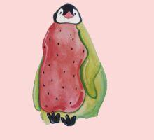 Baby Watermelon Penguin One Piece - Long Sleeve
