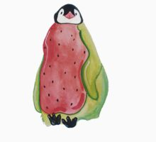 Baby Watermelon Penguin One Piece - Short Sleeve