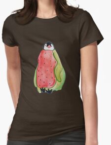 Baby Watermelon Penguin Womens Fitted T-Shirt