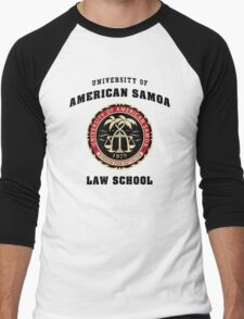 University of American Samoa Law School  Men's Baseball ¾ T-Shirt