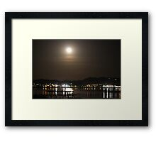 fullmoon over elsinore Framed Print
