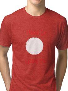 Moon Lit (White/Red) Tri-blend T-Shirt