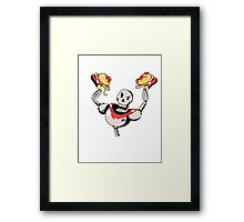 Papyrus from Undertale Holding Spaghetti Framed Print