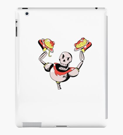Papyrus from Undertale Holding Spaghetti iPad Case/Skin